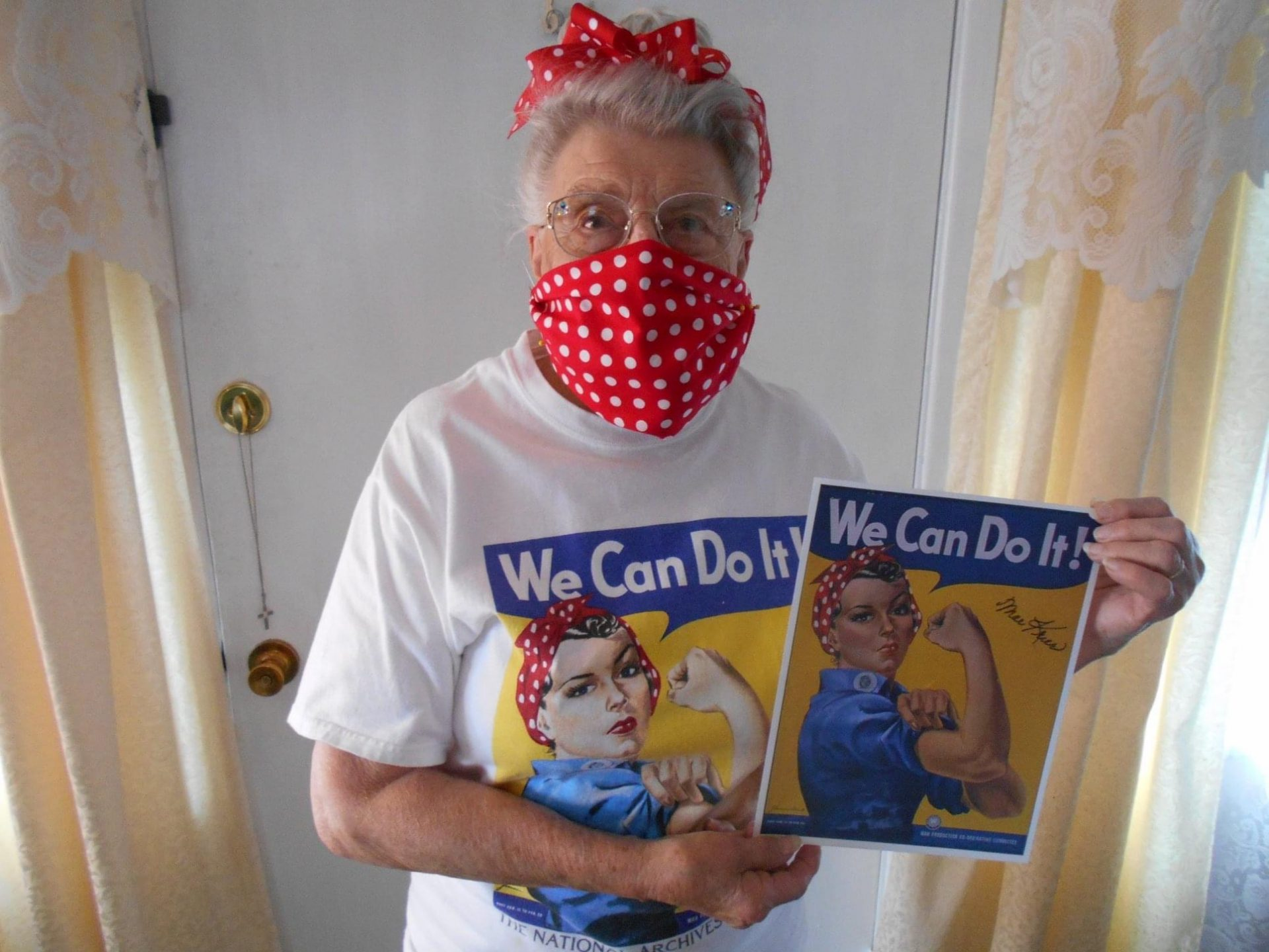 The Art of Covid- Rosie the Riveter