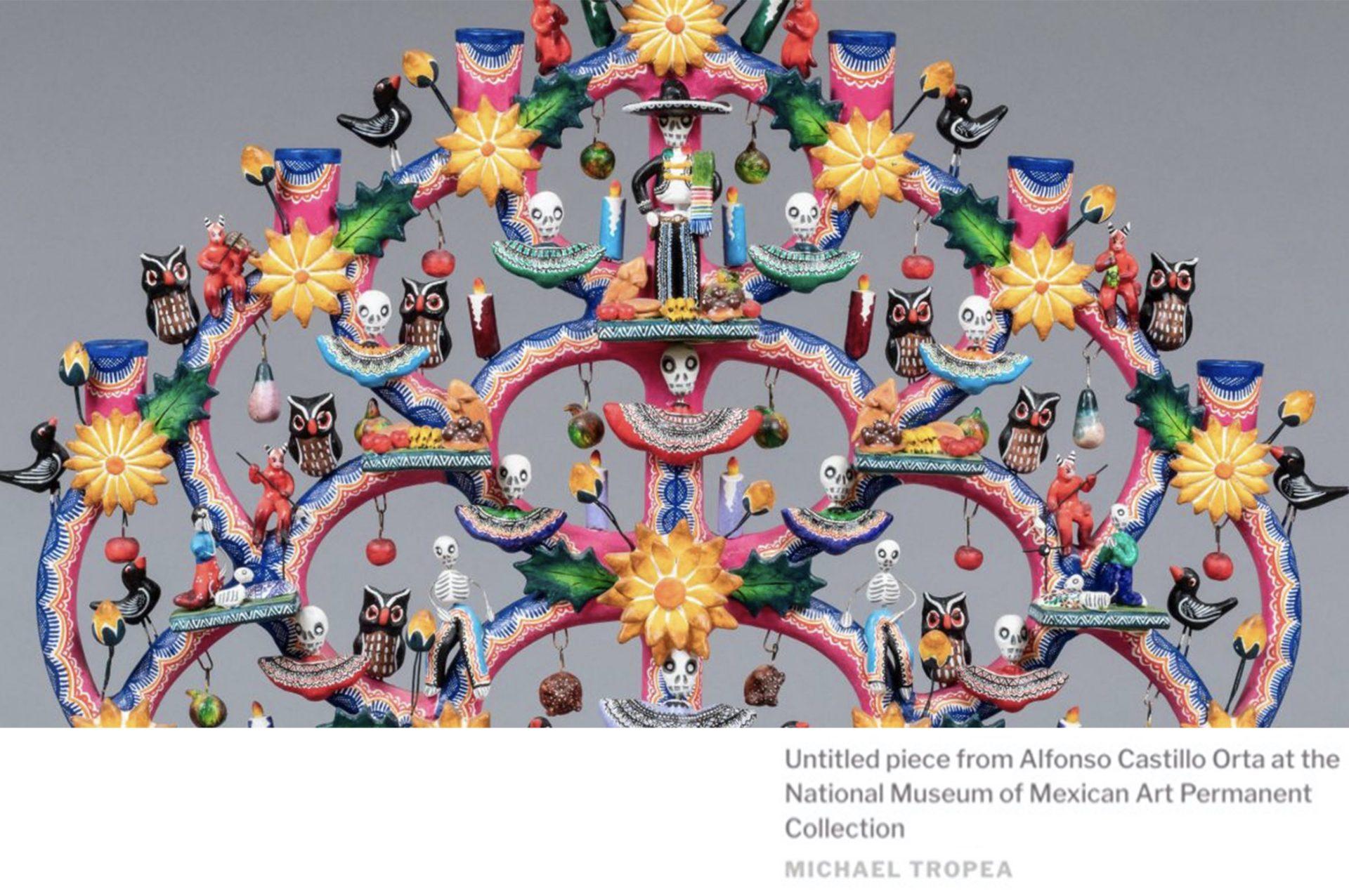 The Art of Covid- Dia de los Muertos covid exhibit