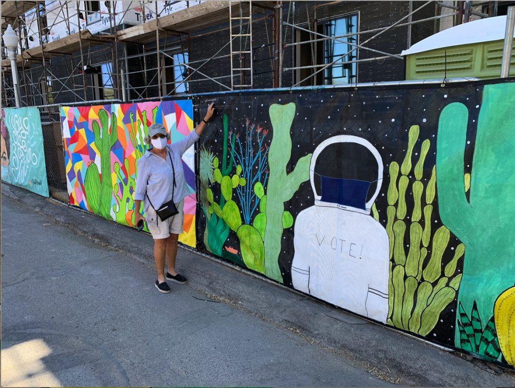 The Art of Covid- Jenna Jarrold's 4th Ave Mural