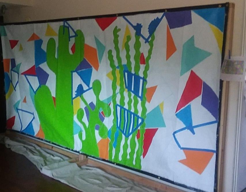 The Art of Covid-Ambrosia Ludwick's 4th Avenue Mural