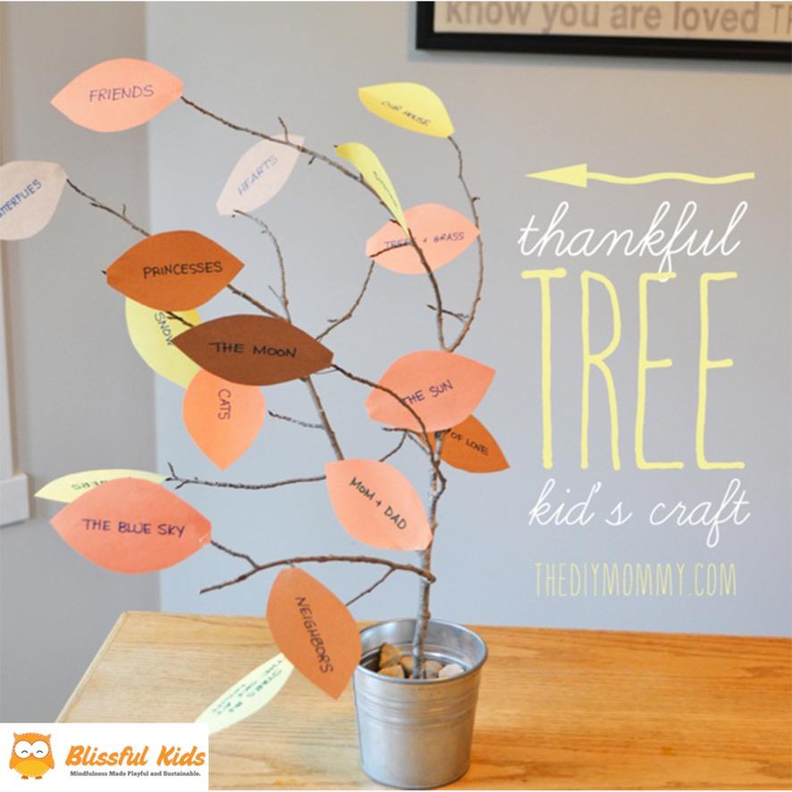 The Art of COVID- Blissful Kids Gratitude Tree